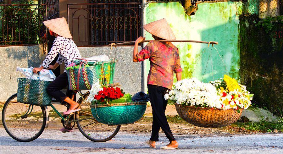 Typische Straßenszene in Vietnam