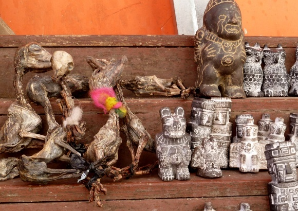 Gifts for Pachamama at the Witches' Market in La Paz