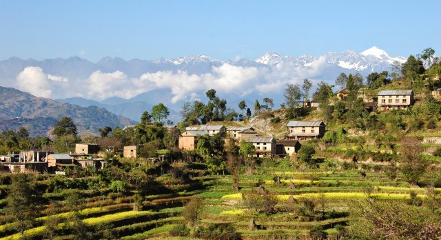 The sleepy Nagarkot village of Nepal in Asia