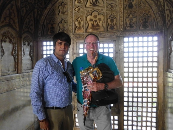 Traveling in India: Graeme at Red Fort, Agra