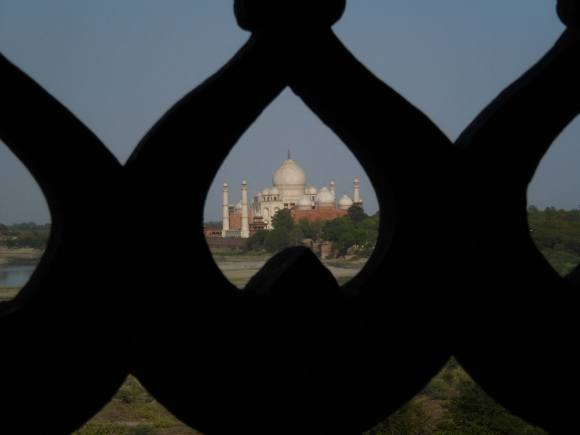 Traveling in India: Taj Mahal view from Agra Fort