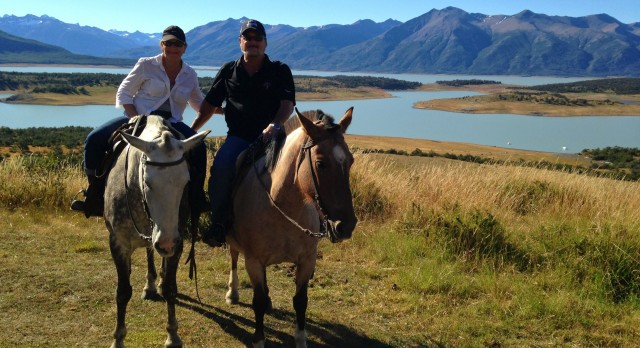 Mr. & Mrs. Weissman in Patagonia, South America, on their Enchanting Travels tour