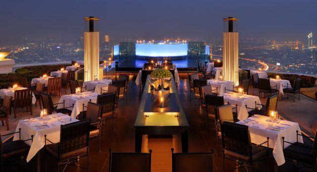 Skybar, eine der beliebten Rooftop Bars