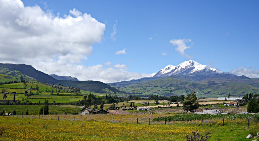 Wunderschöne Bergen Panorama von Ecuador